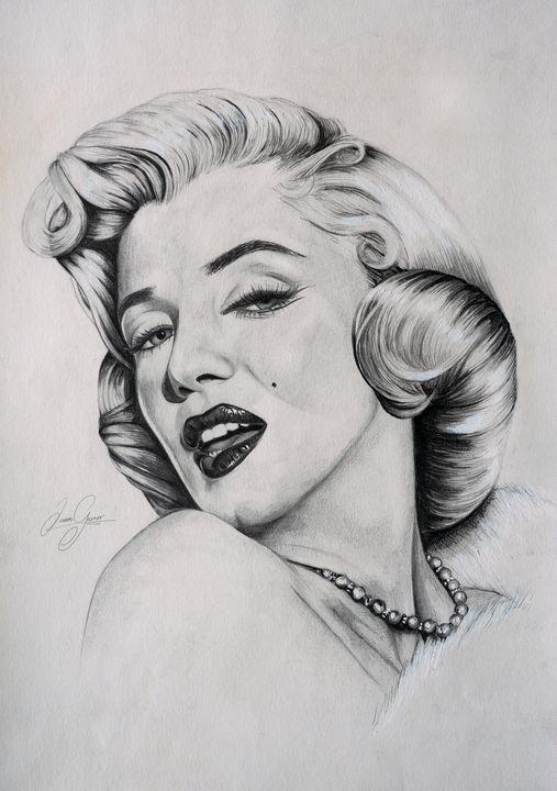 Marilyn Monroe Print - James Garner Portraits and Illustration