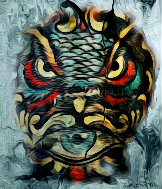 Owl Eye Oil Paint Finish - Brooklyn_Belle_Art Originals