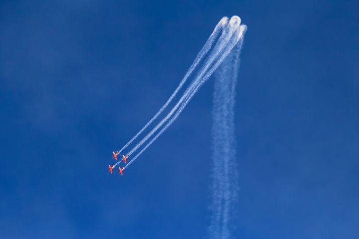 Aerobatic team leaves trails of stea - gal shoval mashiach