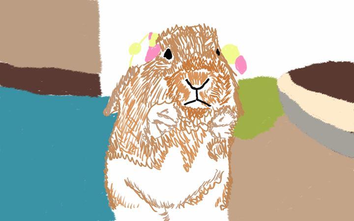 Begging bunny - Kitty's Design