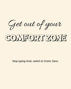 """Comfort Zone"" Printable Wall Art"