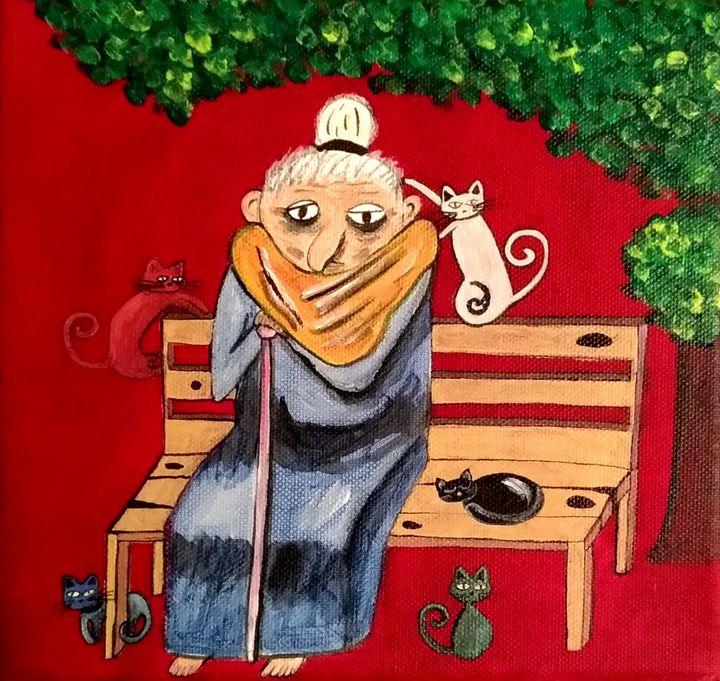 La vieille aux chats - Marion Saliba