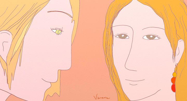 Girl with Carnelian earrings - Vanessa Schlachtaub Bruni