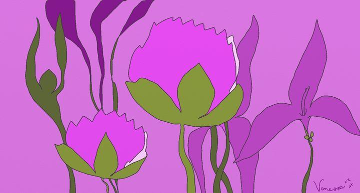 Purple Flowers - Vanessa Schlachtaub Bruni