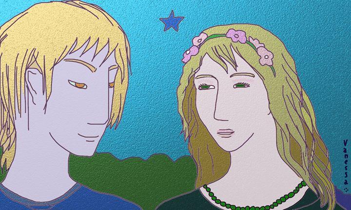 Extraterrestrial couple - Vanessa Schlachtaub Bruni
