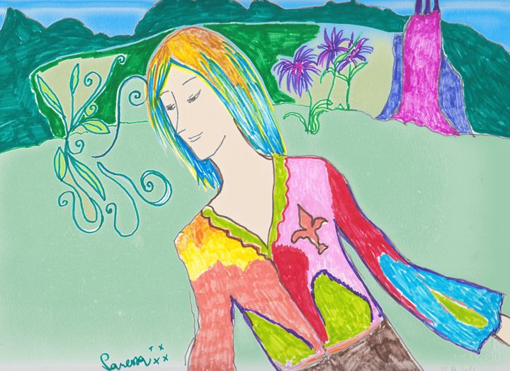 Inner Divinity with fleur de lis - Vanessa Schlachtaub Bruni