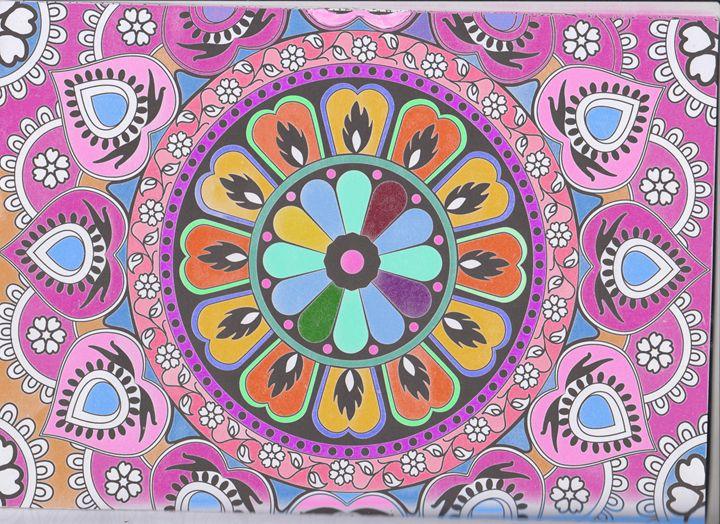 Mandala - pink - Vanessa Schlachtaub Bruni