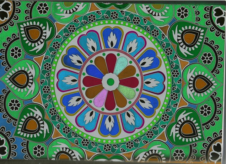 Mandala - green - Vanessa Schlachtaub Bruni