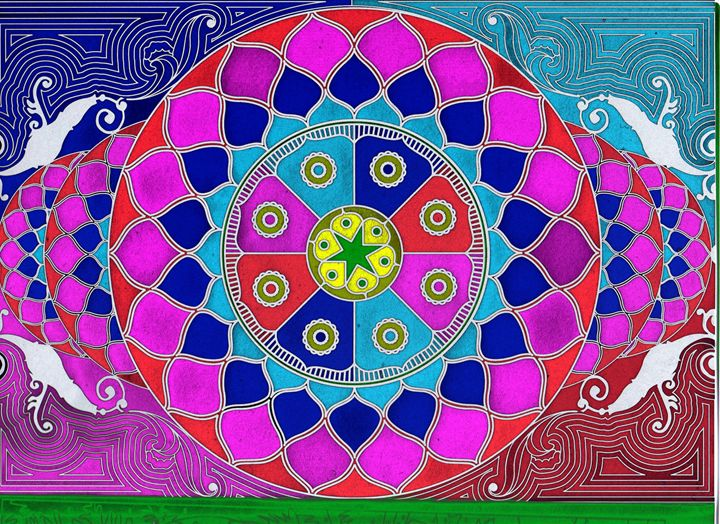 Divine Consciousness Mandala - Vanessa Schlachtaub Bruni