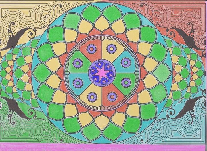 Mandala of the Four Colors - Vanessa Schlachtaub Bruni