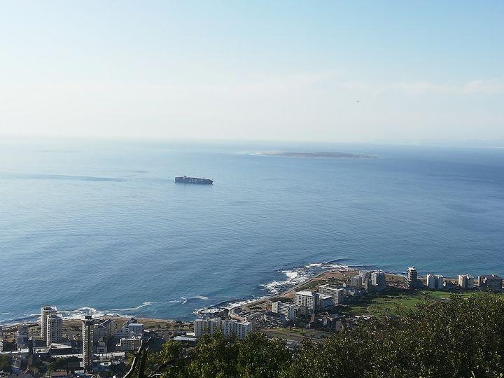 Distance view of Robben Island - Pontsho
