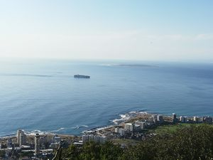 Distance view of Robben Island