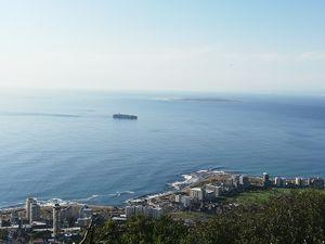 Distance view of Robben Island