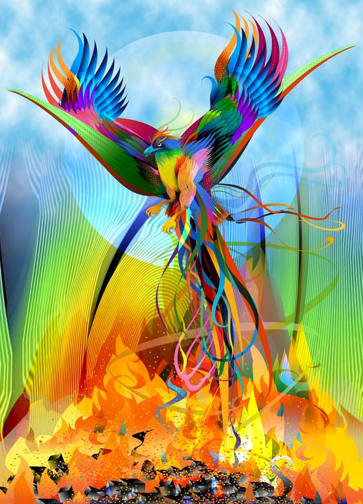 Phoenix Rising Fantasy Art