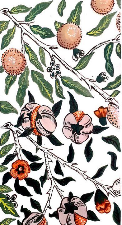 neutral floral - KiwiBurrito