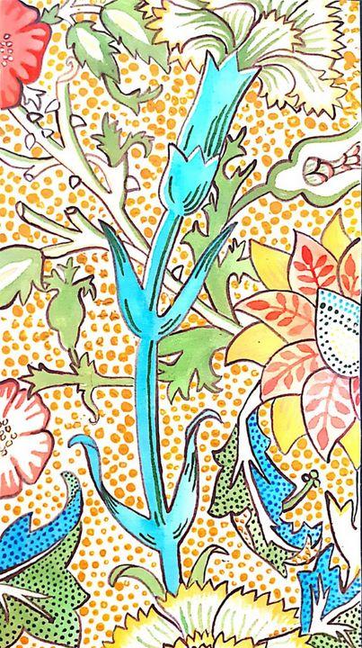 colourful floral print - KiwiBurrito