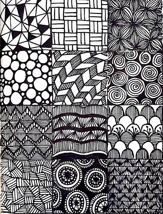 tribal patterns - KiwiBurrito