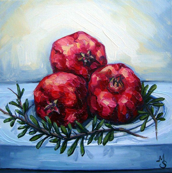Pomegranates - Art Margarita Souleiman