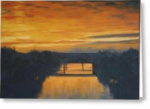 Sunrise Over the Otis Redding Bridge - Terry Forrest Fine Art
