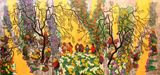Flower Market Original Painting
