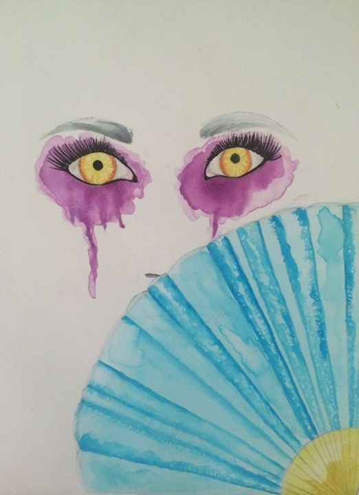 Behind The Fan - Ashley Campbell Art