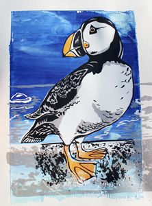 Puffin on a Cliff AP - Prints from Creation Creatures
