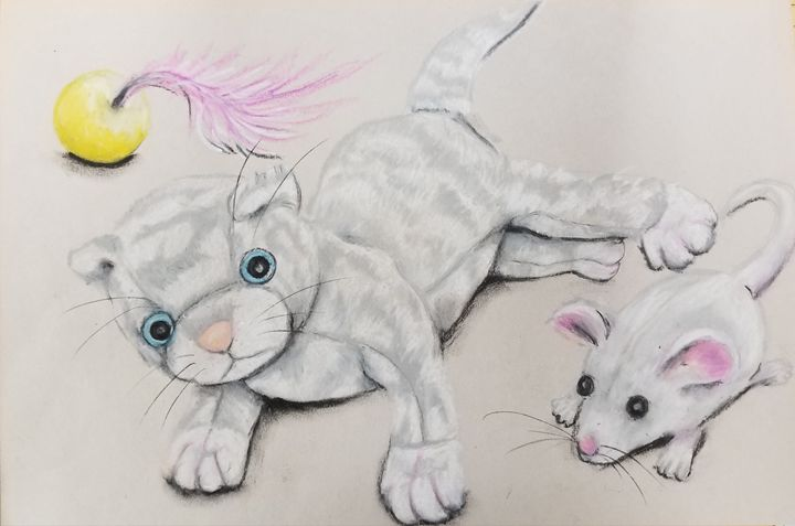 Stuffed Kitty - Prints from Creation Creatures