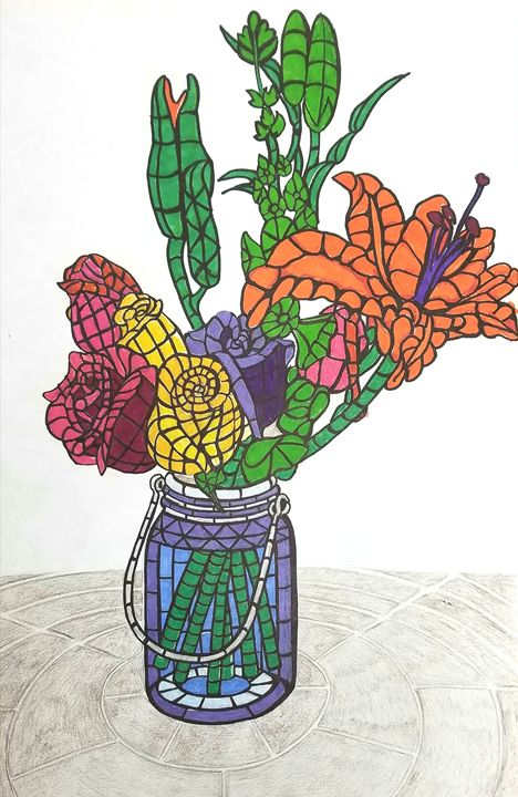 Mosaic Still Life - Prints from Creation Creatures