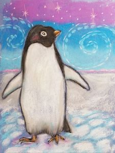 Oil Pastel Penguin