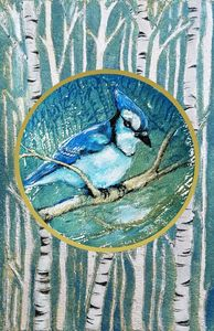 Bluejay on a Branch - Prints from Creation Creatures