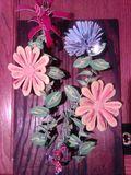 3D wall art , flowers.