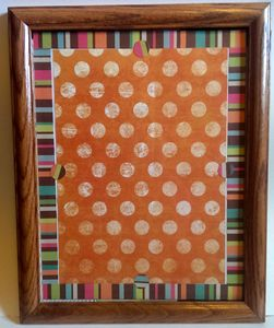 Homemade Dry Erase Polka Dot Board