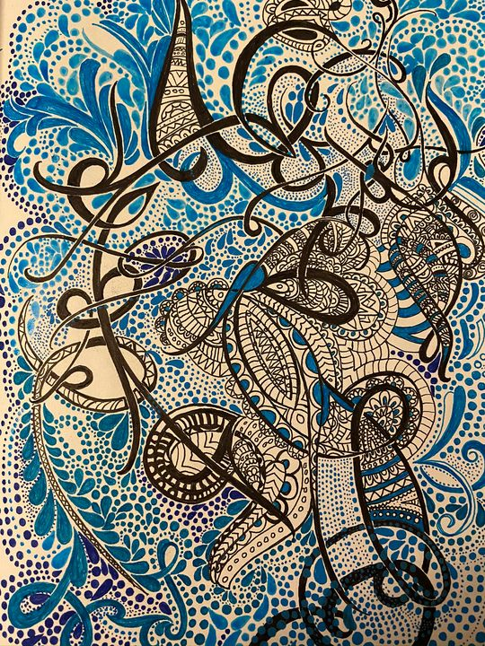 Blue skies - Dots And Swirls