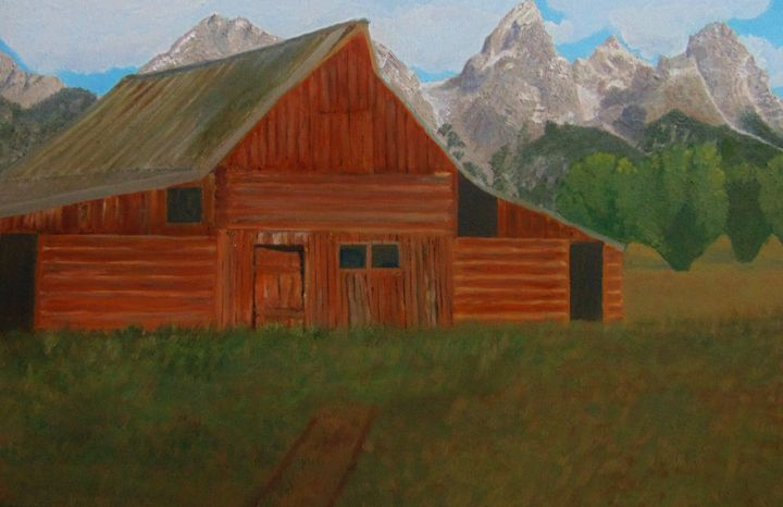 Wyoming Barn - Dean Duffield Art