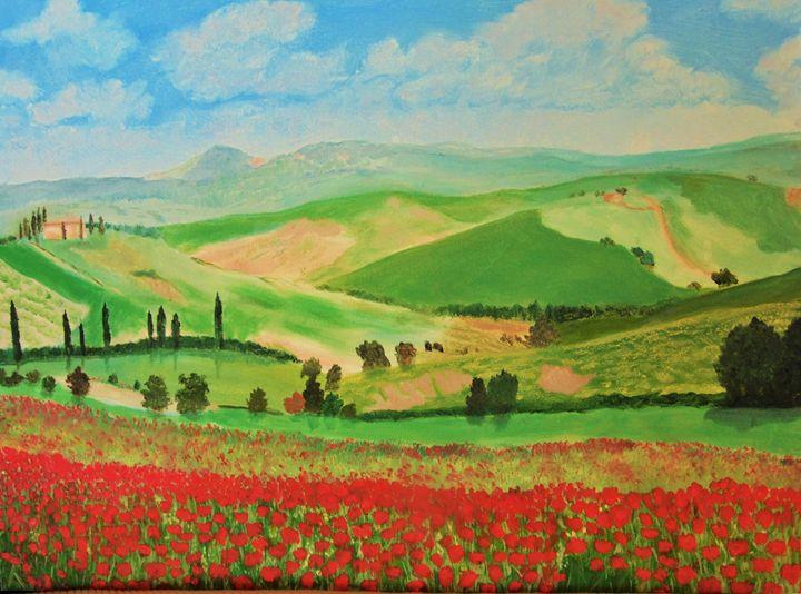 Tuscany landscape - Dean Duffield Art