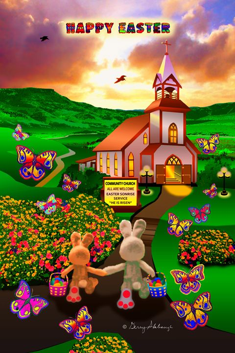 ART - APRIL EASTER SPRING POSTER - Gerry Slabaugh Photography