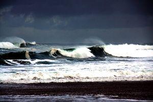 Stormy Wind Swept Ocean Surf