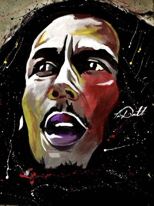Bob Marley Be Happy - D'Artist Creations