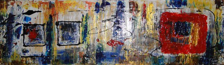 Carré rouge, carré bleu - SLW Artiste Multidisciplinaire
