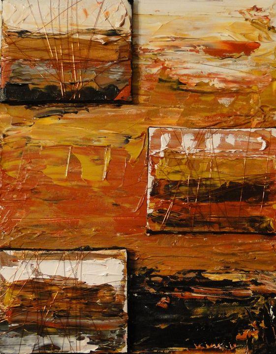 Automne abstrait - SLW Artiste Multidisciplinaire