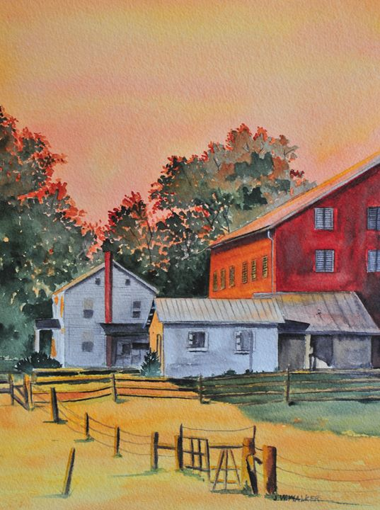 Early Sunday Morning - John W. Walker Art