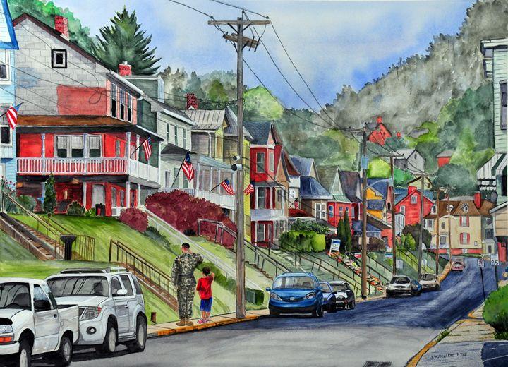 Small Town, USA - John W. Walker Art