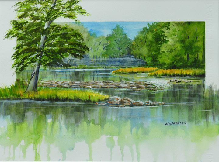 Peaceful River - John W. Walker Art