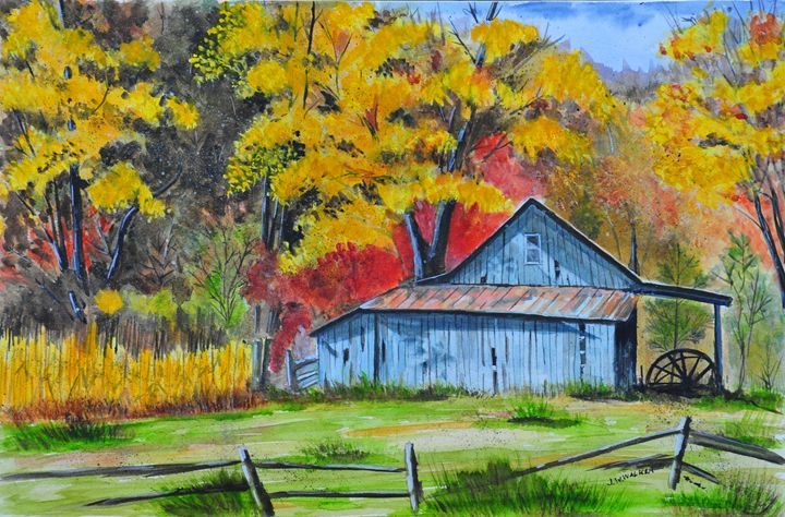 Carolina Barn - John W. Walker Art