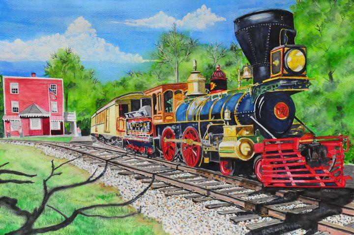 A Stop at Hanover Junction - John W. Walker Art