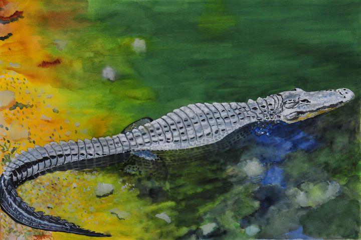 Swamp Dragon - John W. Walker Art