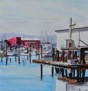 Calm Harbor - John W. Walker Art