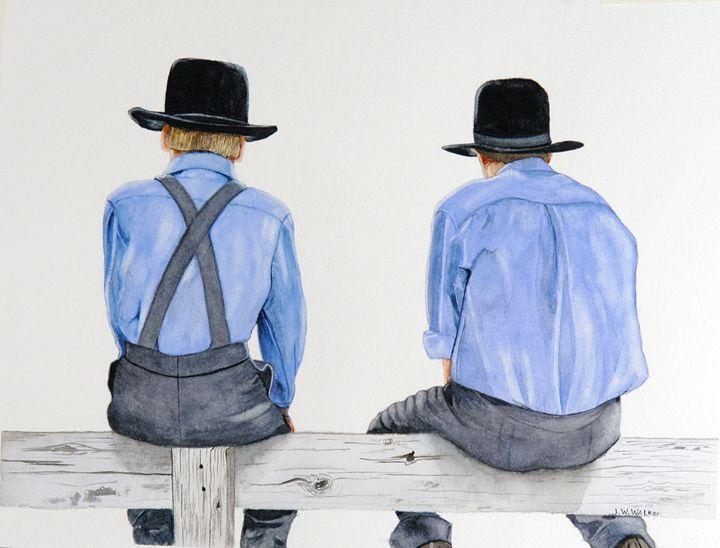 Fence Sitters - John W. Walker Art