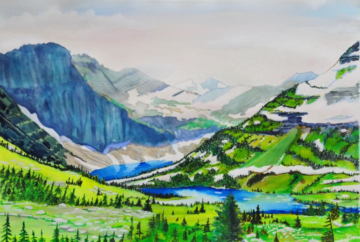 Glacier Spring - John W. Walker Art
