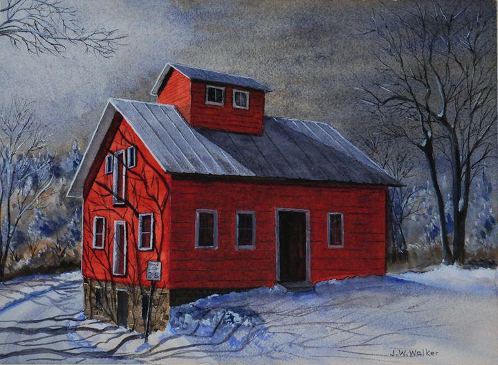 Moonlight on the Mill - John W. Walker Art